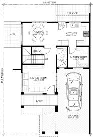 house floor plans with pictures prosperito single attached two story house design with roof deck