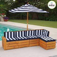 kidkraft outdoor sectional with cushions 00173