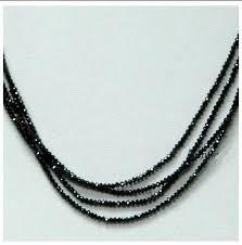 black diamond necklace images Amazing 4 strands black diamond 60 cts beads necklace gleam jewels JPG