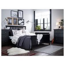 Used King Bed Frame Bedroom King Bed Base Mattress Frame Black Wood Bed
