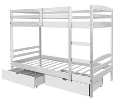 Buy HOME Josie Bunk Bed With Drawers White At Argoscouk Your - White bunk bed with drawers