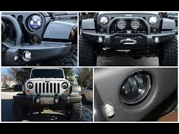 round led lights for jeep jeep wrangler jk high power cree round led fog lights youtube