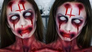 fake blood halloween makeup possessed halloween makeup tutorial sophie foster youtube