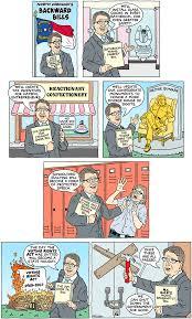 cartoon north carolina u0027s backward bills