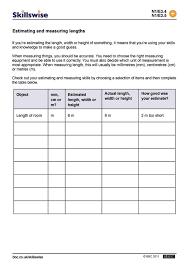 units of length worksheet worksheets