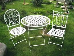White Metal Patio Chairs White Metal Garden Furniture Cool Vintage Metal Outdoor Table