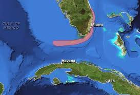 florida location map showing the cuba and bahamas key west