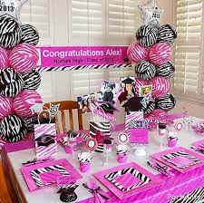 pink and zebra graduation party theme click for ideas including