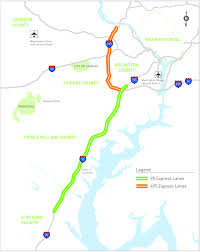 I 95 Map New D C Area Express Toll Lanes Test P3 Financing Models State