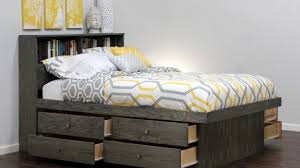 Bed With Bookshelf Headboard Queen Captains Bed With Bookcase Headboard Youtube