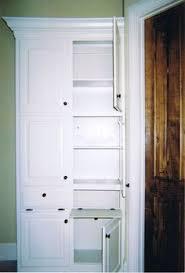 Linen Cabinet Doors Built In Linen Closet Change Out The Door With This Built Ins