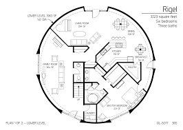 Geodesic Dome Home Floor Plans by Floor Plan Dl 5017 Monolithic Dome Institute