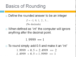 rounding integer numbers how to numbers in c