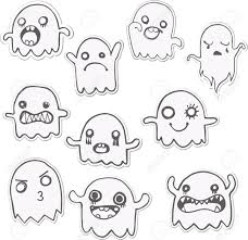 set of 10 cute ghosts stickers vector image royalty free cliparts