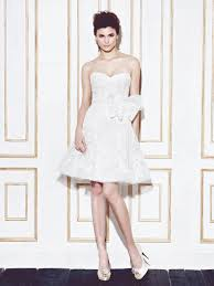 short mini wedding dresses and bridal gowns for petite brides by