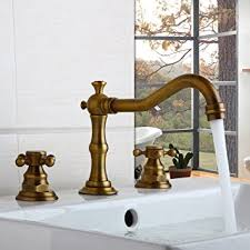 Antique Bathroom Faucets Fixtures Two Handle Widespread Bathroom Vanity Sink Lavatory Faucet