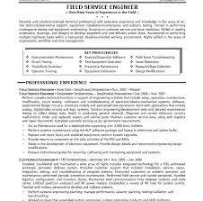 Field Service Engineer Resume Sample Download Mechanical Field Engineer Sample Resume