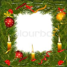 christmas wreath with christmas tree and candle vector