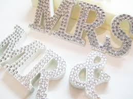 Mr And Mrs Sign For Wedding Mr And Mrs Diamante Wedding Sign Amor Designs