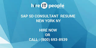 Sample Resume For Sap Sd Consultant by Sap Sd Consultant Resume New York Ny Hire It People We Get It Done