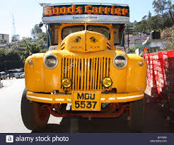 Ford Vintage Truck - ww2 vintage ford truck in civilian use conoor india stock photo