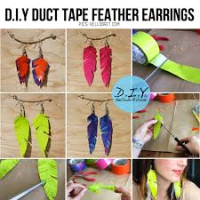 duct earrings duct diy 10 ideas tutorials