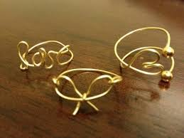 simple wire rings images Diy wire wrap rings midi and regular jpg
