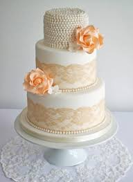 vintage wedding cakes with lace and pearls melitafiore