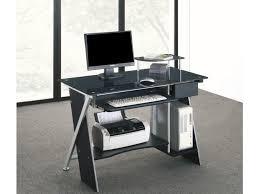 bureaux informatique bureau informatique pascal 1 tiroir verre trempé noir