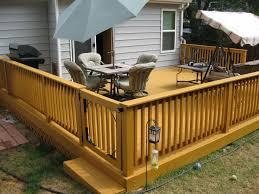 natural and elegant backyard deck design cement patio
