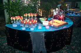 unique sweet sixteen themes chips and dips in cocktail glasses for