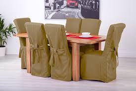 Dining Chair Seat Cover Fabric Slipcovers For Scroll Top High Back Leather Oak Dining
