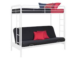 White Futon Bunk Bed Dhp Furniture Futon Bunk Bed