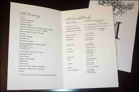 wedding ceremony program paper sle wedding program paper evgplc