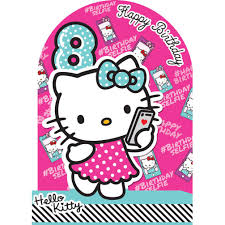 8th birthday 3d stand up hello kitty birthday card 235166