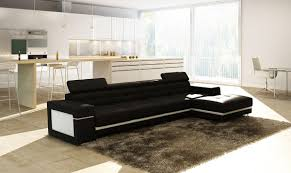 modern black and white leather sectional sofa living room modern leather sectional sofa elegant black sofa design