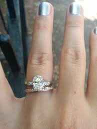 white gold engagement ring with yellow gold wedding band white gold e ring with gold wedding band