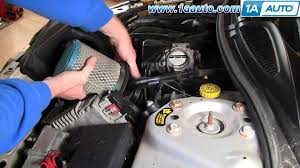 how to install replace engine air filter dodge stratus 2 7l v6
