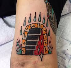 stairway to hell flash tattoo i got the other day imgur