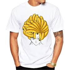 banana hair banana hair goku the banana saiyan men s sleeve casual white