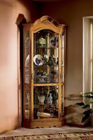 Corner Display Cabinet With Glass Doors Curio Cabinet 680485 Howard Miller Oak Cabinets Corner Display