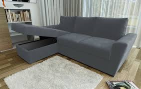 L Shaped Fabric Sofas Direct Furniture Stanford L Shape Left Right Corner Sofa Bed With