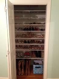 simple closet organizer with simple rack for shoe storage design