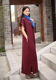 linen dress cotton maxi dress casual loose dress embroidered