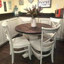 round farmhouse dining table and chairs farmhouse dining table set round kitchen appealing rustic thechowdown