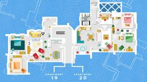 What Are Floodplans by See Floor Plans Of Famous Fictional Homes From Friends To