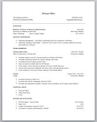 Student Job Resume Examples by First Time Job Resume Examples