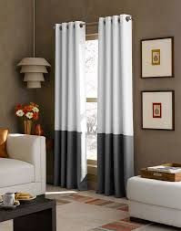 63 Inch Drapes Kendall Color Block Grommet Curtain Panel Curtainworks Com