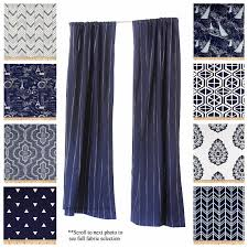 Navy Window Curtains Window Curtains Drapery Panels Vintage Indigo Curtains Navy