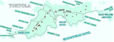 map of the bvi tour tortola by land